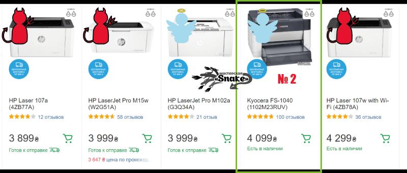 выбираем хороший лазерный принтер